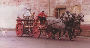 Fire Steamer Cart with Dalmatians