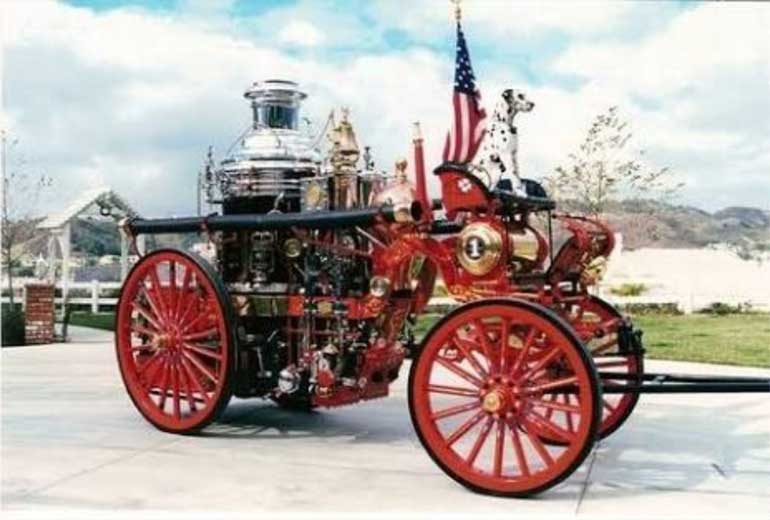 Carriage and Dalmatian Fire Truck